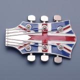 Přezka na opasek Kytara - Britská vlajka