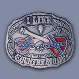 Westernová přezka na opasek - Country Music (velká)
