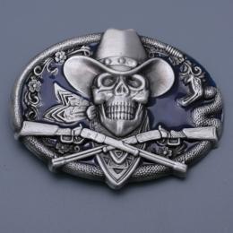 Přezka na opasek - Lebka s kloboukem - zvětšit obrázek