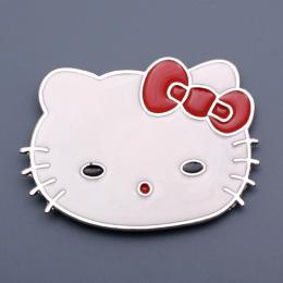 Přezka na opasek - Kitty, červená - zvětšit obrázek