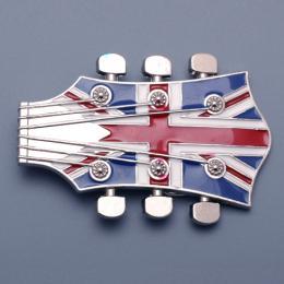 Přezka na opasek Kytara - Britská vlajka - zvětšit obrázek