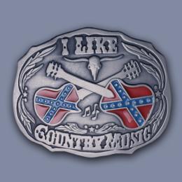 Westernová přezka na opasek - Country Music (velká) - zvětšit obrázek