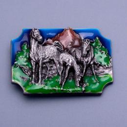 Přezka na opasek - Koně - zvětšit obrázek