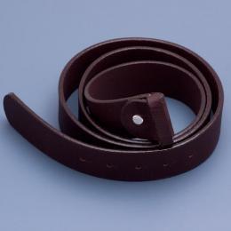 Kožený opasek - hnědý, délka 130 cm - zvětšit obrázek