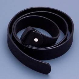 Kožený opasek - černý, délka 130 cm - zvětšit obrázek