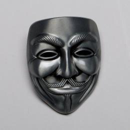 """Přezka na opasek - Guy Fawkes """"Anonymous"""" - zvětšit obrázek"""