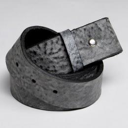 Kožený opasek - šedý mramor, délka 115 cm - zvětšit obrázek